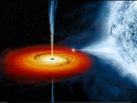 Scientists first observed as a black hole devouring a star (Video)