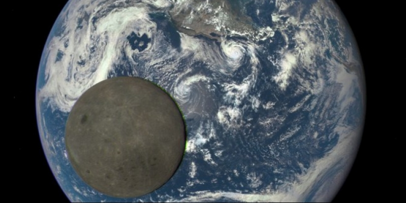 Opa! For the first time in the history of recorded so close to Earth that passeth away moon disc (Video)