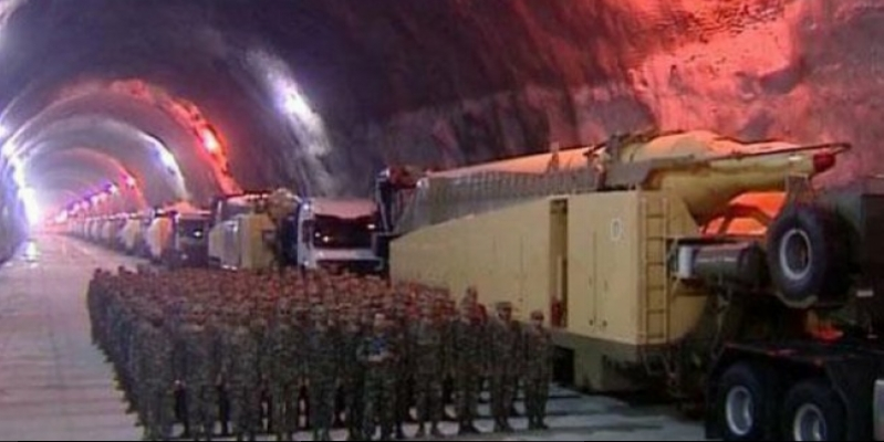 Iran for the first time showed a huge secret underground rocket base (Video)