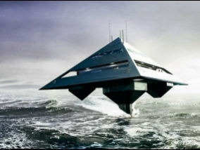 Yachts Earth's gravity does not work. It swims untouched water (video)