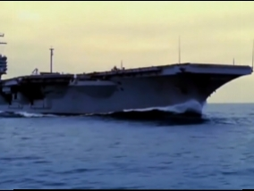 Movie for this evening. The world's largest aircraft carrier (Video)