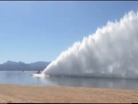 Beasts on the water: how to pull boats 'Top Fuel' build giant walls of water (video)